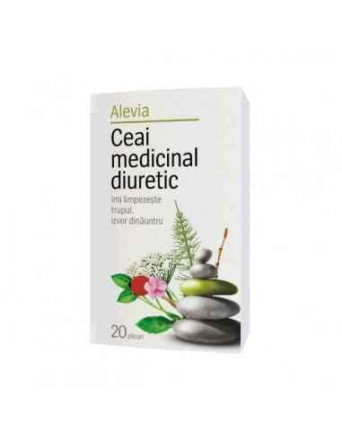 Ceai medicinal diuretic 20dz - Alevia Sustine functionarea rinichilor. Recomandat ca adjuvant in infectii urinare, cistite, nefr