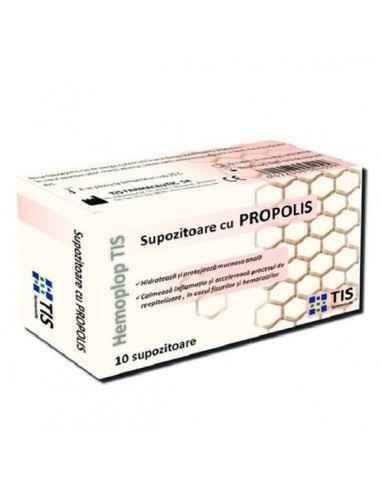 Supozitoare cu propolis (10buc) - Tis, Supozitoare cu propolis (10buc) - Tis Supozitoarele cu propolis prezintă proprietăți lubr