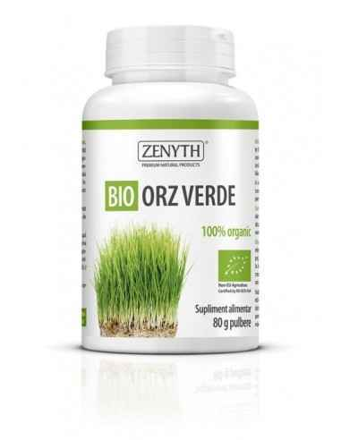 Bio Orz Verde-80gr - Organic Zenyth Detoxifiant, alcalinizant și vitaminizant pentru toate vârstele. Bio Orz Verde este un supli