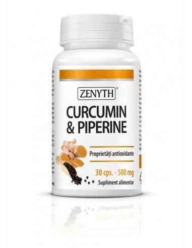 Curcumin&piperine 30cps - Zenyth Extract de turmeric și piperină cu absorbție ridicată. Curcumina modulează aproximativ 700