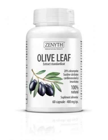 Olive Leaf Extract 60cps - Zenyth Susține sănătatea cardiovasculară și imunitatea, 100% natural. Oleuropeina, principiul activ d