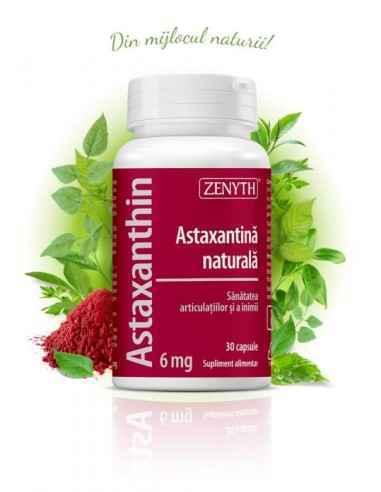 Astaxanthin 30cps - Zenyth Astaxantină naturală, antioxidant, susține imunitatea, sănătatea ochilor și inimii. Astaxantina este