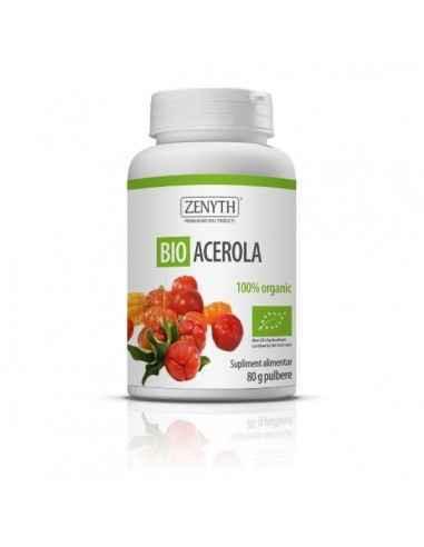 Bio Acerola 80g - Zenyth Doza ta zilnică de Vitamina C. Bio Acerola este un supliment alimentar 100% natural, organic, recomanda