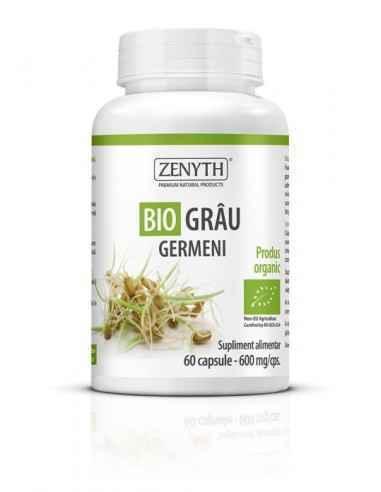 Bio Grau Germeni 60cps - Zenyth Energizant, detoxifiant și digestiv de excepție! Supliment alimentar organic. Bio Grâu Germeni e