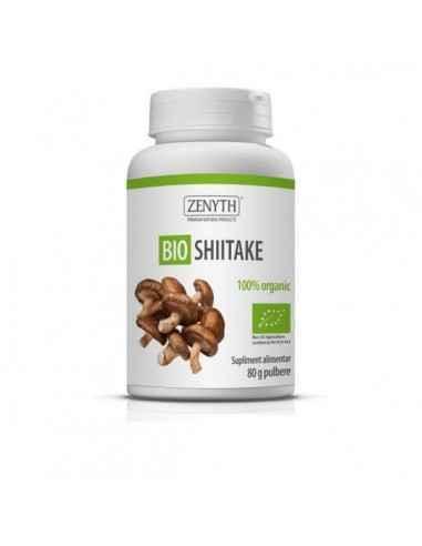Bio Shiitake 80g - Zenyth Extract standardizat de shiitake, 100% natural, cu 20% polizaharide. Un produs pentru sănătatea ficatu