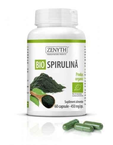 Bio Spirulina 60cps - Zenyth Supliment alimentar pentru susținerea activității fizice și mentale intense, creșterea nivelului de