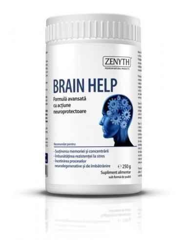 BrainHelp 250g - Zenyth Formulă avansată cu acțiune neuroprotectoare. Brain Help este un supliment alimentar premium, o formulă