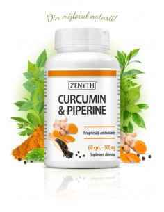 Curcumin & Piperine Pachet promo 60cps - Zenyth