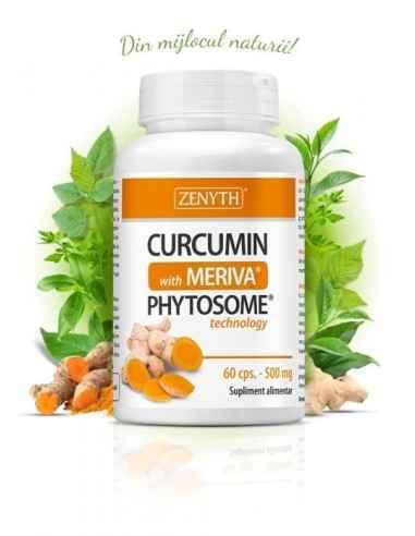 Curcumin with Meriva 60cps - Zenyth Supliment alimentar care susține sănătatea inimii și articulațiilor. Curcumina din turmeric