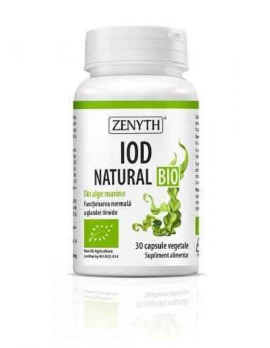 Iod Natural Bio 30cps - Zenyth Supliment BIO cu iod, pentru funcționarea glandei tiroide. Iod Natural Bio de la Zenyth este un s