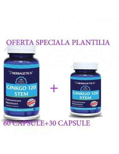 GINKGO 120 STEM 60+30 capsule CADOU Herbagetica