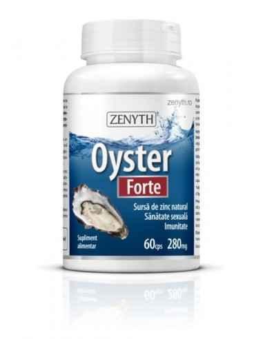 Oyster Forte 60cps - Zenyth Un produs pentru susținerea sănătății sexuale și imunității. Supliment alimentar 100% natural, din c