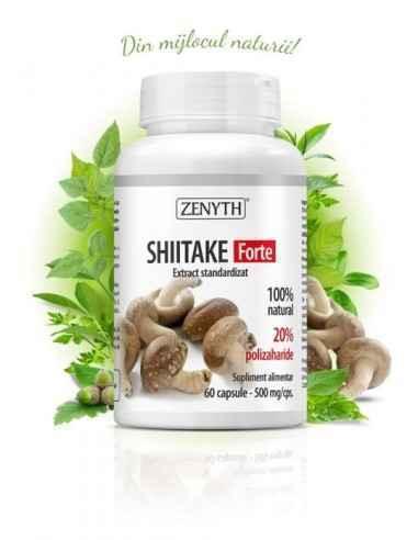Shiitake Forte 60cps - Zenyth Un produs pentru sănătatea ficatului. Reduce colesterolul și trigliceridele. Supliment alimentar 1