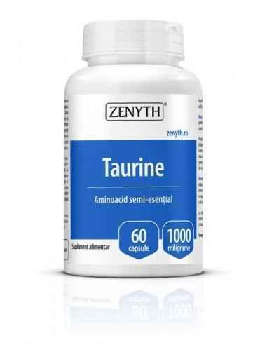 Taurine 1000mg 60cps - Zenyth Un produs pentru susținerea sănătății creierului și performanță sportivă. Taurina este un aminoac