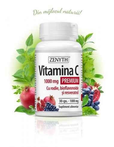 Vitamina C Premium cu RODIE 30cps - Zenyth Aliatul tău pentru o imunitate de fier. Vitamina C face parte din categoria vitaminel