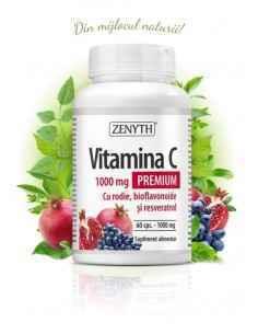 Vitamina C Premium cu RODIE 60cps - Zenyth
