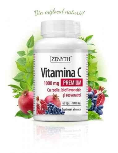 Vitamina C Premium cu RODIE 60cps - Zenyth, Vitamina C Premium cu RODIE 60cps - Zenyth Aliatul tău pentru o imunitate de fier. V