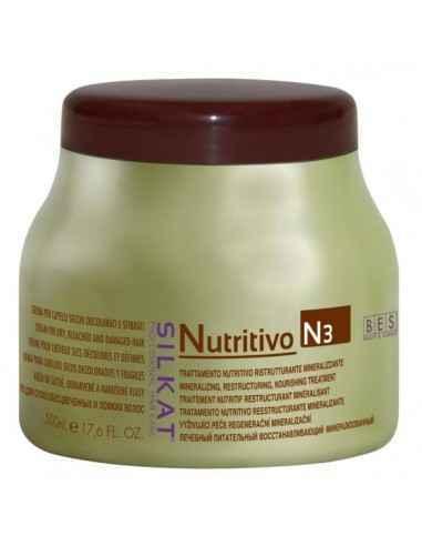 MASCA SILKAT NUTRITIVA 500ml - Bes Romania Este o emulsie care compenseazǎ şi echilibreazǎ pH-ul.