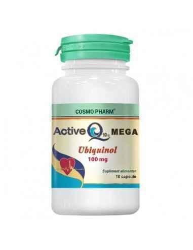 ACTIVE Q10 MEGA 10CPS - Cosmopharm Energizant si antioxidant forte. Mentine tensiunea arteriala, colesterolul, glicemia in param