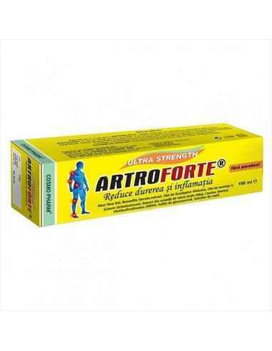 ARTROFORTE CREAM 100ML - Cosmopharm Alunga rapid si eficient durerea si inflamatia articulara locala. Reda natural mobilitatea s