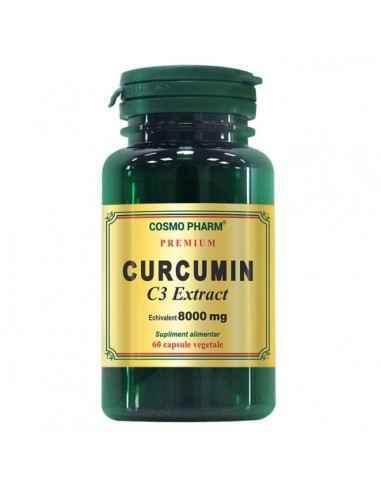 CURCUMIN 60CPS - Cosmopharm Cea mai puternica substanta antiinflamatoare naturala. Antitrombotic, antioxidant si anticancerigen.