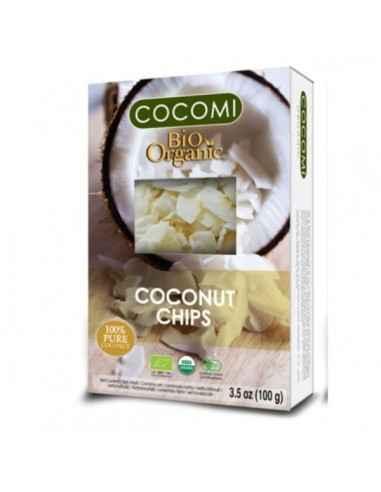 COCOMI CHIPS DE COCOS RAW (BIO) 100GR - My Bio Natur Nuca de cocos are numeroase proprietăţi care previn apariţia diferitelor bo