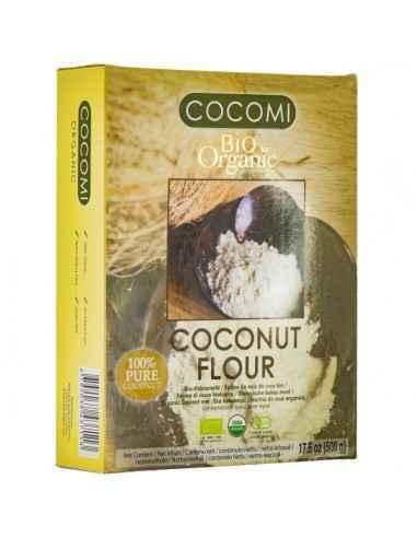 COCOMI FAINA COCOS 500GR (BIO) - My Bio Natur Faina de cocos este bogata in fibre alimentare, nu are gluten si contine mai multe
