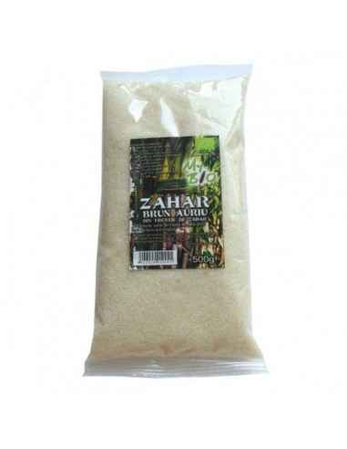 ZAHAR BRUN AURIU TRESTIE ZAHAR 500GR (BIO) - My Bio Natur Provine din agricultura ecologica.
