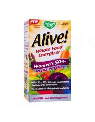 ALIVE WOMEN'S 50+ ULTRA 30CPR - Secom Formula complexa, special conceputa pentru femeile de peste 50 de ani, ce ofera suport nut