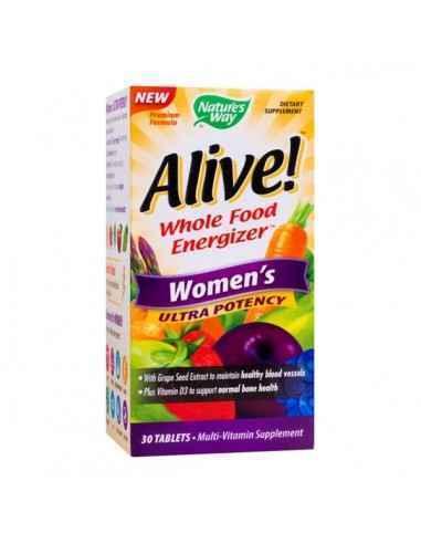 ALIVE WOMEN'S ULTRA 30CPR - Secom Formula complexa, special conceputa pentru femeile de peste 50 de ani, ce ofera suport nutriti