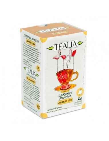 CARAMEL&ROOIBOS CEAI 20DZ - Secom Ceai Rooibos cu aroma de caramel, fara cofeina.