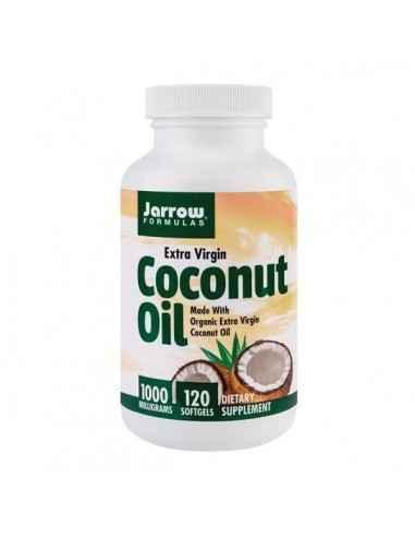 COCONUT OIL EXTRA VIRGIN 120CPS - Secom Ulei de cocos cu efect echilibrant, bine tolerat de pielea cu nevoi particulare.