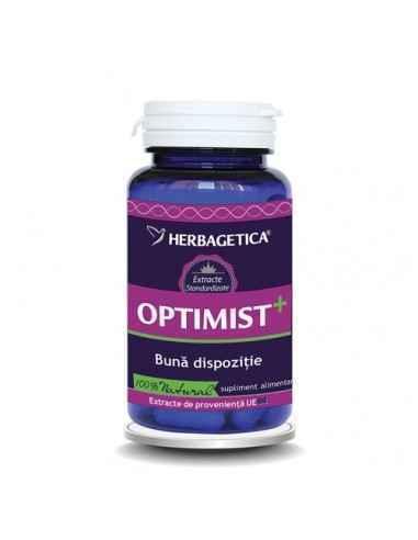 Optimist+  30cps Herbagetica, Optimist+ 30cps Herbagetica Antidepresiv, induce starea de bine, crește calitatea somnului.Optimi