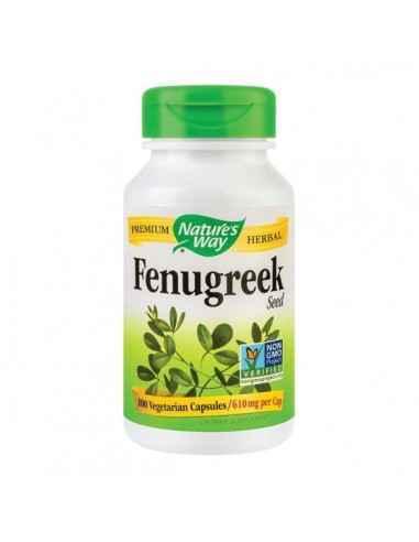 FENUGREEK 610MG 100CPS - Secom Ajuta la reducerea nivelului de colesterol si glucoza din sange si la mentinerea echilibrului hor