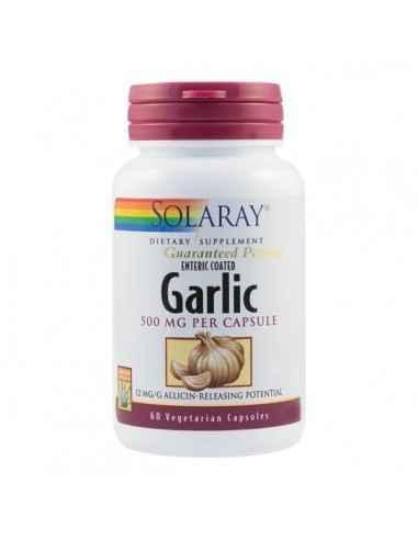 GARLIC 500MG 60CPS - Secom Extract standardizat din bulbi de Usturoi pentru imbunatatirea sanatatii cardiovasculare, gastrointes