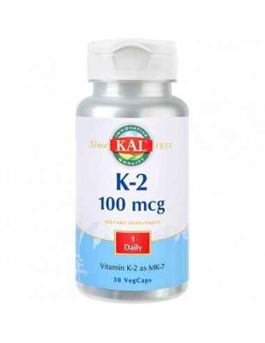 K-2 100MCG 30CPR - Secom Vitamina K-2 asigura protectia osoasa.