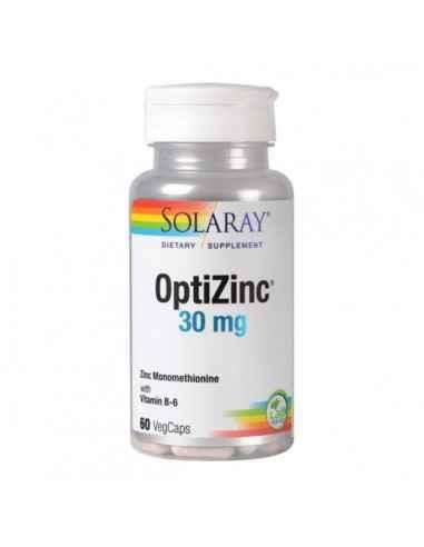 OPTIZINC 30MG 60CPS - Secom Ajuta la mentinerea sanatatii parului, a unghiilor si a pielii si la sustinerea functionarii normale