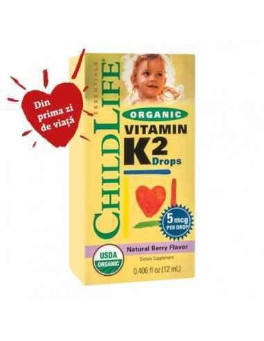 ORGANIC VITAMIN K2 12ML - Secom Vitamina K-2 asigura protectia osoasa.
