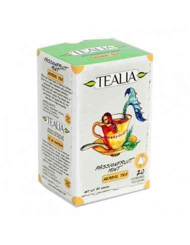 PASSIONFRUIT MINT CEAI 20DZ - Secom Ceai de menta si musetel cu aroma de fructul pasiunii.
