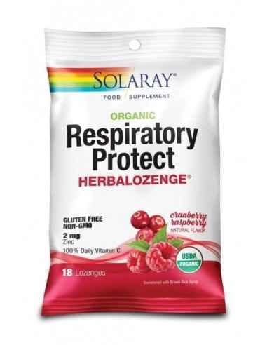 RESPIRATORY PROTECT CRANBERRY RASPBERRY 18DROPSURI - Secom Comprimate de supt in forme de administrare ambalate individual, care
