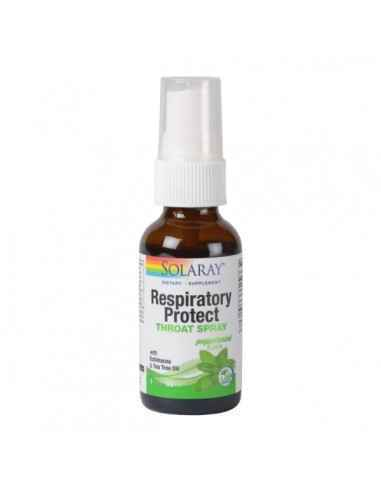 RESPIRATORY PROTECT THROAT SPRAY 30ML - Secom Contribuie la reducerea durerilor in gat, calmarea tusei, mentinerea sanatatii cav