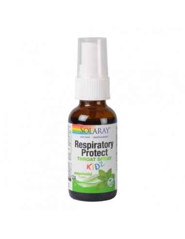 RESPIRATORY PROTECT THROAT SPRAY KIDZ 30ML - Secom Contribuie la mentinerea sanatatii cavitatii bucale, a gatului si a sistemulu