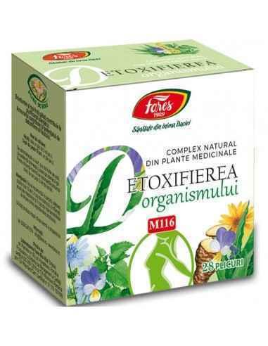 Complex Detoxifierea Organismului 28 plicuri Fares  Complex 100% natural din plante medicinale și argilă, special conceput pentr