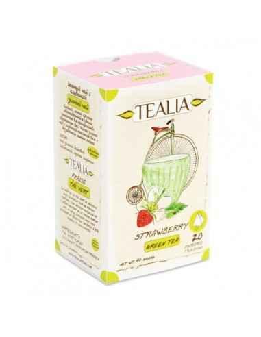 STRAWBERRY CEAI 20DZ - Secom Ceai verde Pure Ceylon cu aroma de capsuni.