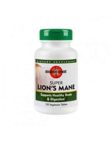 SUPER LION`S MANE 120CPR - Secom Ciuperca medicinala ce ajuta la imbunatatirea functiilor si structurii sistemului nervos.