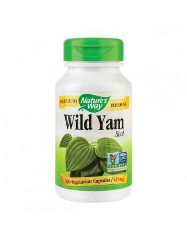 WILD YAM 100CPS - Secom Ajuta la reducerea spasmelor uterine, gastrointestinale, renale si bronsice.