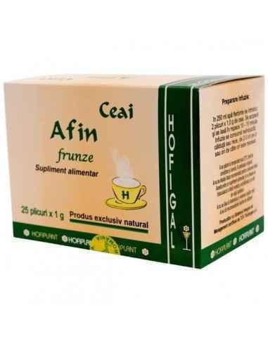 AFIN FRUNZE 25DZ - Hofigal Datorita continutului bogat in fitonutrienti si substante bioactive Ceaiul de afin frunze se recomand