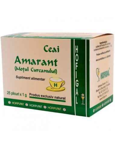 AMARANT 25DZ - Hofigal Continutul bogat in saruri minerale, zaharuri, derivati polifenolici, saponine confera ceaiului de amaran