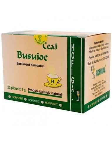 BUSUIOC 25DZ - Hofigal Continutul bogat in uleiuri volatile, derivati ai acidului cafeic, flavonoidele confera ceaiului de busui