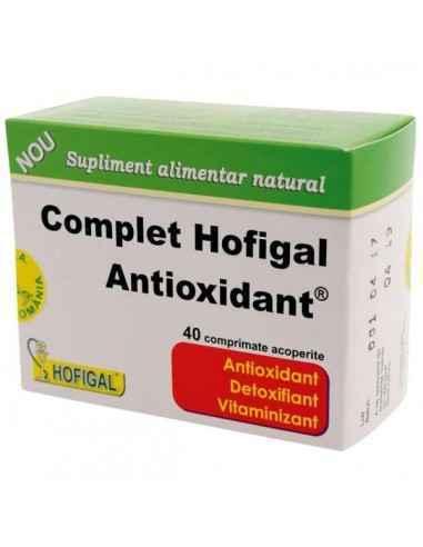 COMPLET ANTIOXIDANT 40CPR - Hofigal Produs cu activitate antioxidanta pronuntata, care asigura nutrientii necesari in suplimenta